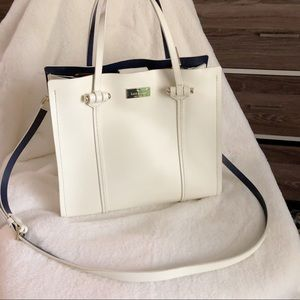 Kate Spade White Leather Top Handle Bag